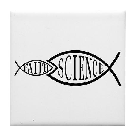Science Trumps Faith Tile Coaster