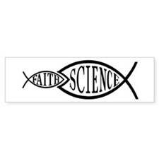 Science Trumps Faith Bumper Bumper Sticker