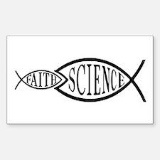 Science Trumps Faith Rectangle Decal