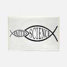 Science Trumps Faith Rectangle Magnet