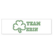 Team Erin Bumper Car Sticker