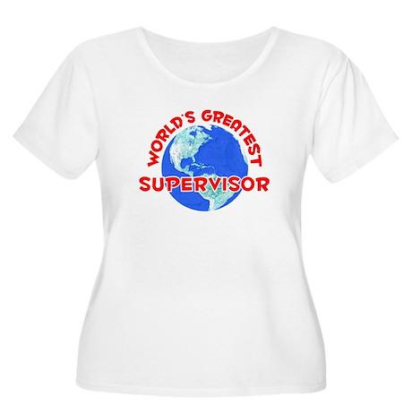 World's Greatest Super.. (F) Women's Plus Size Sco