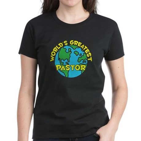 World's Greatest Pastor (H) Women's Dark T-Shirt