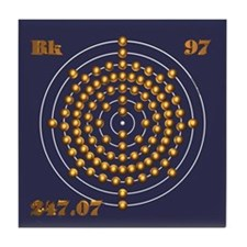 Berkelium 97 Tile Coaster
