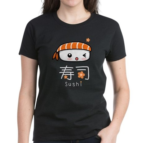 Kawaii Nigiri Sushi Women's Dark T-Shirt