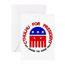 Cthulhu For President Greeting Cards (Pk of 10)