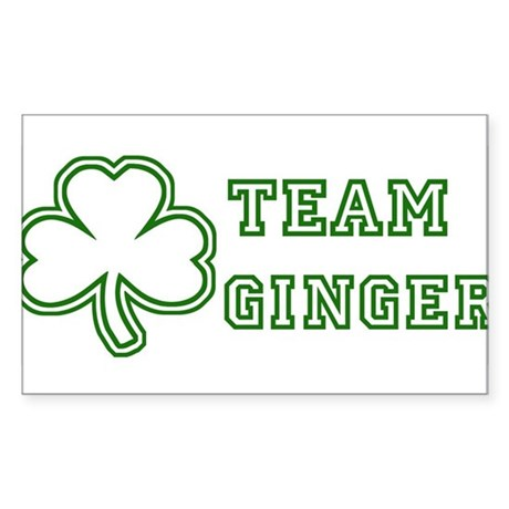 Team Ginger Rectangle Sticker