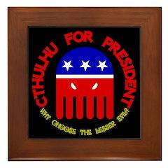 Cthulhu For President Framed Tile