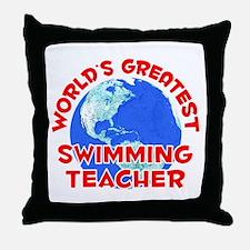 World's Greatest Swimm.. (F) Throw Pillow