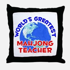 World's Greatest Mahjo.. (E) Throw Pillow