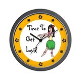 Funny hawaiian Wall Clocks