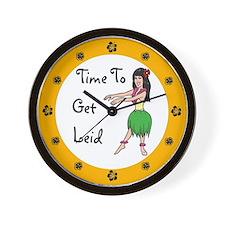 Time To Get Leid Hawaiian Clock