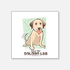 "Luv Golden 3 Square Sticker 3"" x 3"""