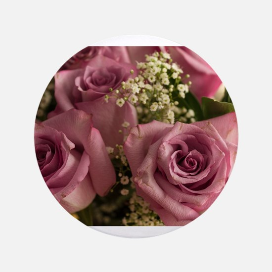 Pink Roses Button