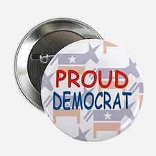 Anti-Bush,Pro Democrat Button