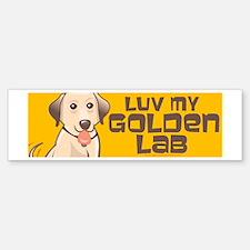 Luv Golden 4 Bumper Bumper Sticker