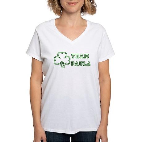 Team Paula Women's V-Neck T-Shirt
