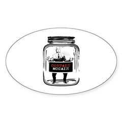 Contain McCain (in a jar) Oval Decal