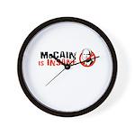 McCain is insane Wall Clock