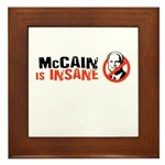 McCain is insane Framed Tile