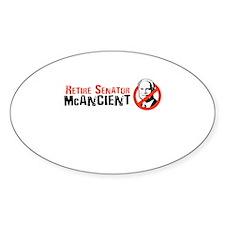Retire Senator McAncient Oval Decal