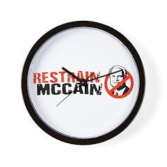 Restrain McCain Wall Clock