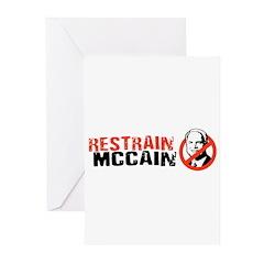 Restrain McCain Greeting Cards (Pk of 20)