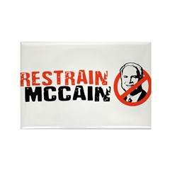 Restrain McCain Rectangle Magnet