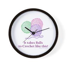 Balls to Crochet Wall Clock