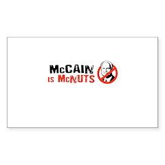 Anti-McCain Rectangle Decal