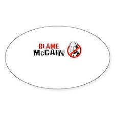Anti-McCain Oval Decal