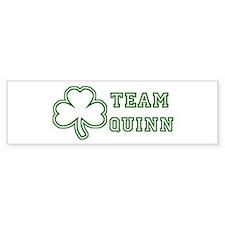 Team Quinn Bumper Car Sticker