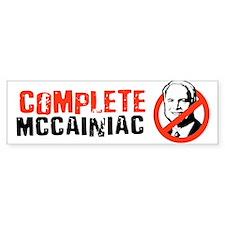 COMPLETE MCCAINIAC Bumper Bumper Bumper Sticker