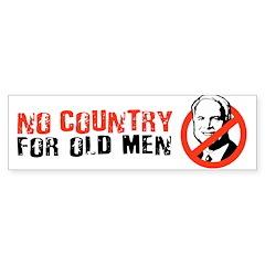 NO COUNTRY FOR OLD MCCAIN Bumper Bumper Bumper Sticker