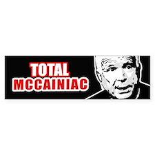 MCCAINIAC Bumper Bumper Bumper Sticker