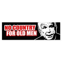 NO COUNTRY FOR MCCAIN Bumper Bumper Bumper Sticker