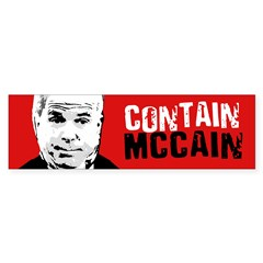 CONTAIN MCCAIN Bumper Bumper Bumper Sticker