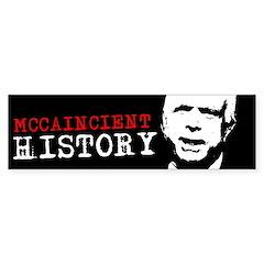 MCCAINCIENT HISTORY Bumper Bumper Sticker
