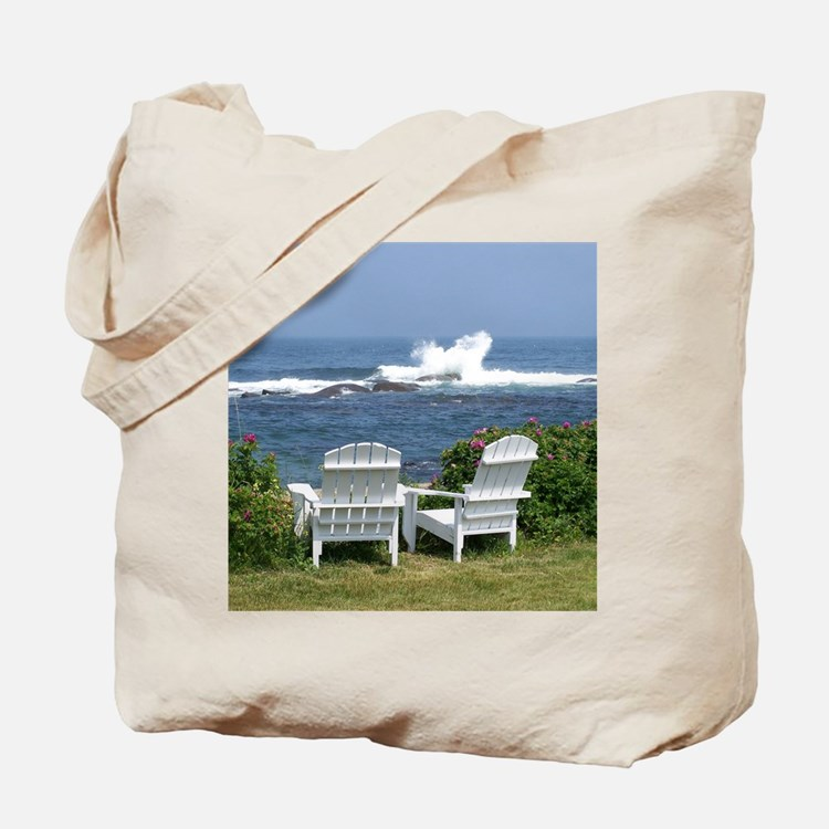 Downeast Oceanfront View Tote Bag