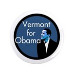 Vermont for Obama Big Campaign Button