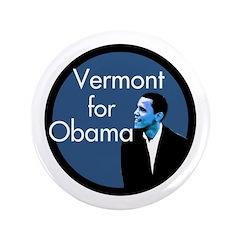 Vermont for Obama Big Campaign Button