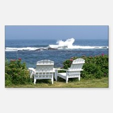 Downeast Oceanfront View Rectangle Decal