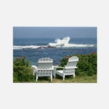 Downeast Oceanfront View Rectangle Magnet