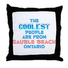 Coolest: Sauble Beach, ON Throw Pillow