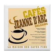 French Cafe Tile Coaster