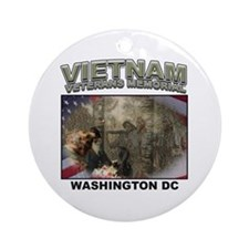 Vietnam Veterans' Memorial Ornament (Round)
