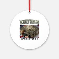 Vietnam Veterans' Memorial Ornament (Round)