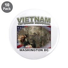 """Vietnam Veterans' Memorial 3.5"""" Button (10 pack)"""