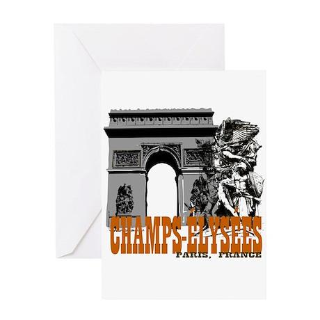 Champ Elysees Paris Greeting Card