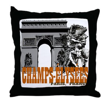Champ Elysees Paris Throw Pillow